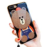 3d Teddy BearブラウンIphone 6s Plusキラキラ光る可愛いソフトシリコンゴム製保護ケース iPhone 6 Plus - Best Reviews Guide