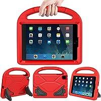 HSSCASE iPad Mini 2 3 4ケース 子供用 耐久性 軽量 耐衝撃 保護ハンドル 使いやすい 変換可能 スタンド キッズケース Apple iPad 7.9インチ Mini 2 3 4タブレット用 レッド HSSCASE-003
