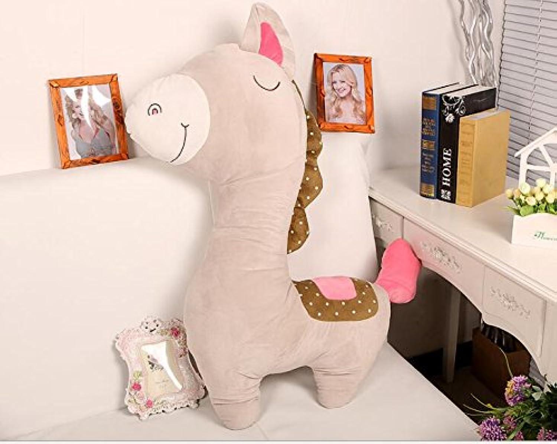 HuaQingPiJu-JP ぬいぐるみ愛らしい馬のぬいぐるみぬいぐるみ動物の馬のおもちゃギフト赤ちゃんキッド40センチメートル(グレー)