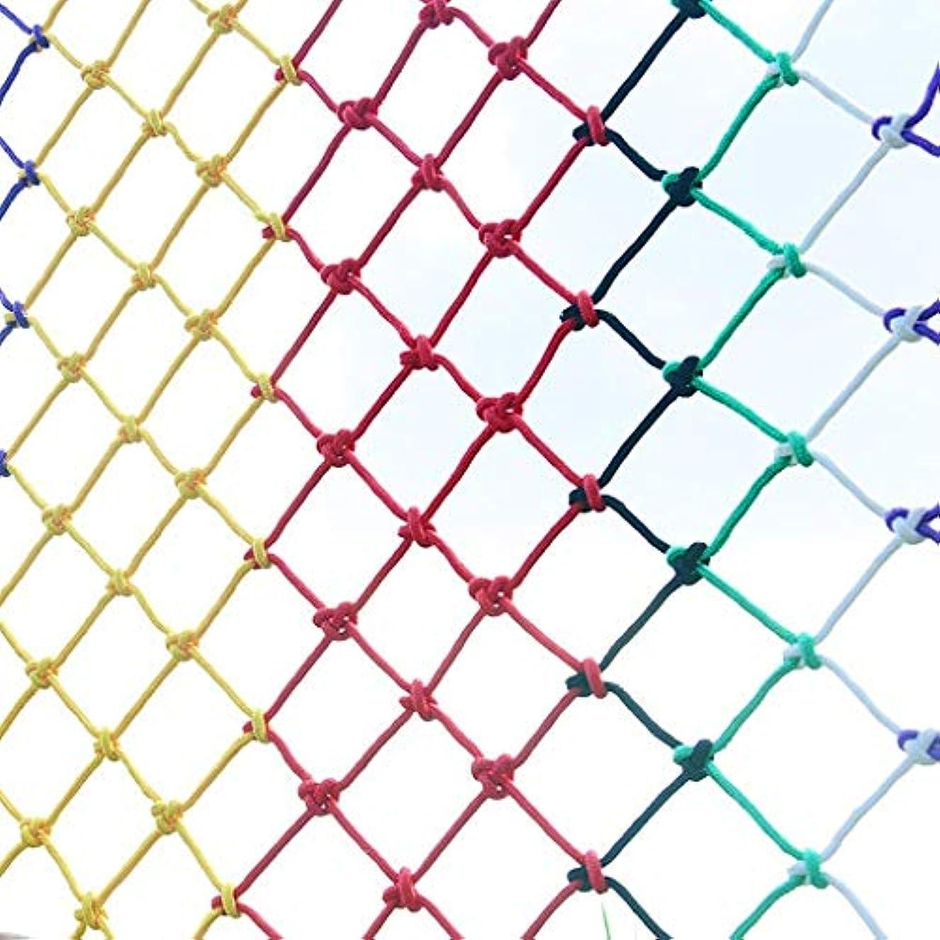 好色ないろいろ抵抗子供の安全ネット防護ネットバルコニー階段落下防止ネット幼稚園色装飾ネットフェンスネットワークメッシュ間隔10CM、オプション、ハンド編組構造 (Size : 5x5m)