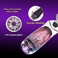 RSAASAYY マンプレジャー男性カップエレクトリックVibrantingソフトシリコンオート吸いコンパクト人工Vagiina、10の振動モード、10吸いモードとうめきパターンについてAdùllt玩具