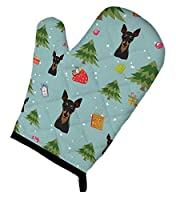 Carolines Treasures BB5029OVMT Christmas Min Pin Oven Mitt