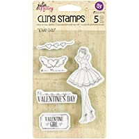 """Julie Nutting Mixed Media Cling Rubber Stamps 4""""X6""""-Love Day (並行輸入品)"""