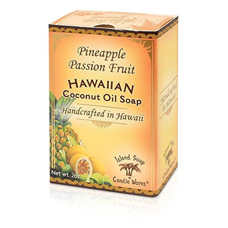 伝統舌な多様性アイランドソープ ココナッツソープ パッションフルーツ 50g