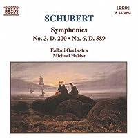 シューベルト:交響曲第3番, 第6番(ファイロニ室内/ハラース)