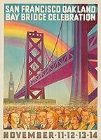 San Francisco Oakland Bay Bridge celebrationヴィンテージポスター(アーティスト: Forster ) USA C。1936 9 x 12 Art Print LANT-64349-9x12