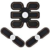 腹筋ベルトJoinValue ems腹筋 トレーニング トレーニングマシーン 15段階調節 薄型軽量 男女兼用 日本語説明書付き (セット)