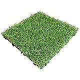 人工芝 パネル 20枚セット【2019年9月9日仕様変更】リアル人工芝 ジョイント式 人工芝生 ベランダ