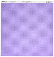 """BoBunny Double Dot Double-Sided Textured Cardstock 12""""X12""""-Lavender (並行輸入品)"""