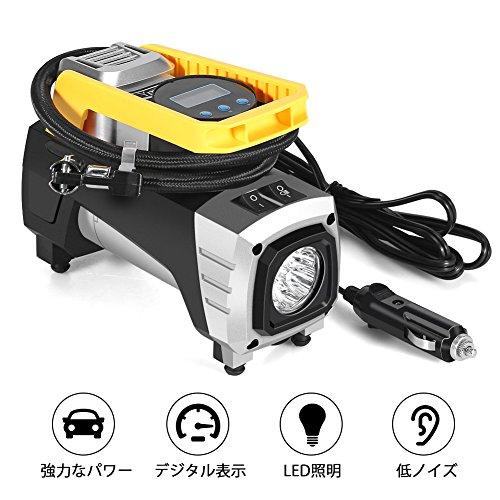 車用空気入れ、Ymiko エアコンプレッサー 電動ポンプ D...