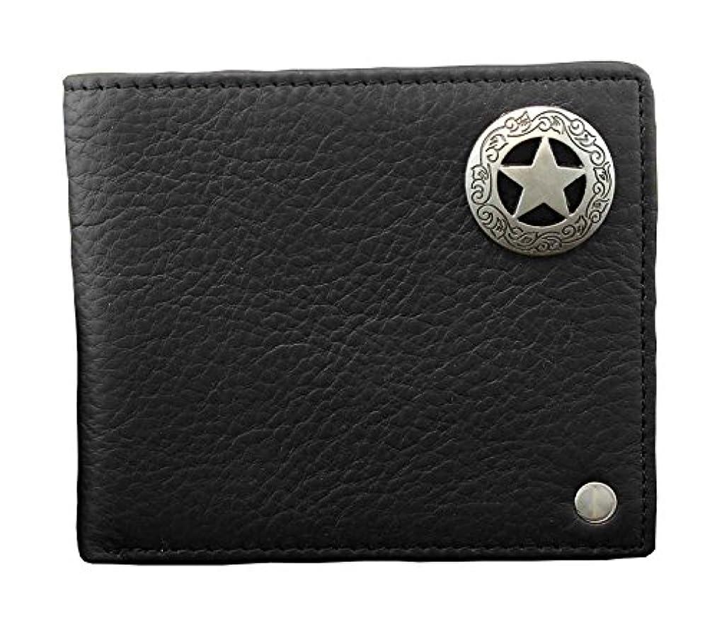 優先権北あそこメンズWestern Star二つ折り本革カードコイン財布財布ブラック