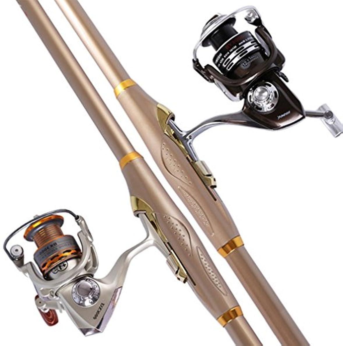 金貸しスペースピューフル90アウトドア海釣りロッドセット、メタル釣りリール釣りタックル