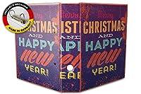 バインダー 2 Ring Binder Lever Arch Folder A4 printed Merry Christmas