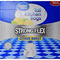 GREAT VALUE Strong Flex Tallキッチンバッグ、シトラスバースト、13ガロン、90カウント