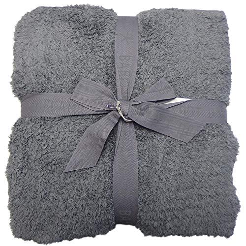 [ベアフット ドリームス] BAREFOOT DREAMS コージーシック アダルト スロウ ブランケット Cozy Chic Adult Throw Blanket 503 シングル B503 (グラファイト(74-00)) [並行輸入品]