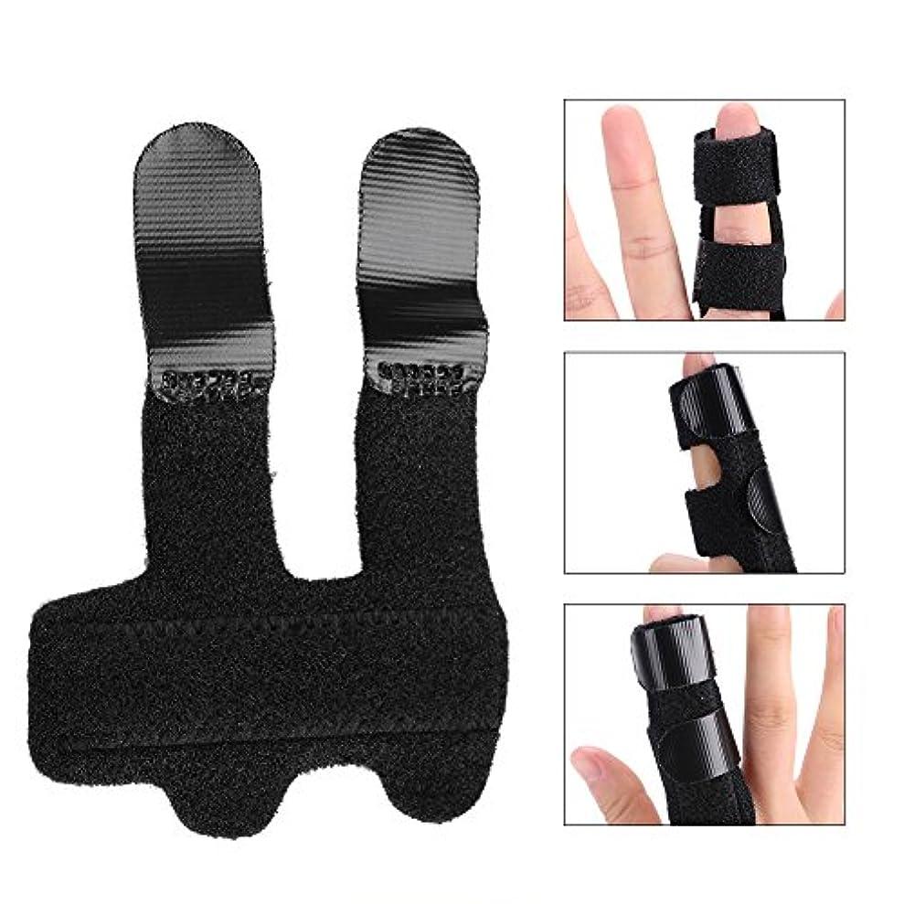 悲鳴共産主義ボンド指スプリントサポートブラケット 調節可能な固定ストラップ 内蔵アルミニウム 指のまっすぐに使用 痛みを和らげる