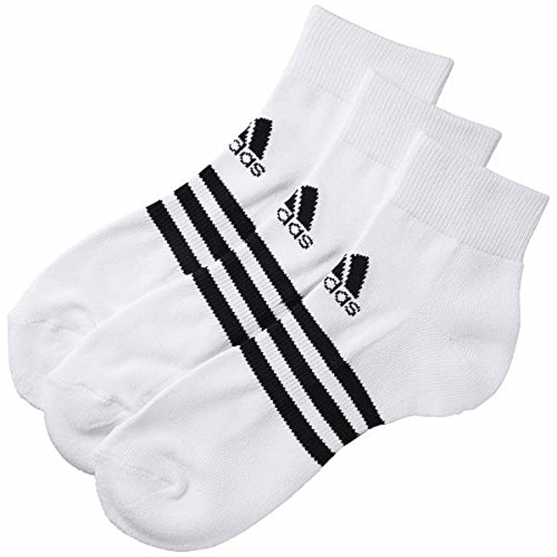 adidas(アディダス) BASIC 3P アンクル (3足組) DDV03 F91676 ホワイト/ブラック