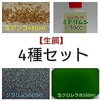 【生餌4種類セット】( 内容)ミジンコ・ゾウリムシ・生クロレラ水・ミドリムシ