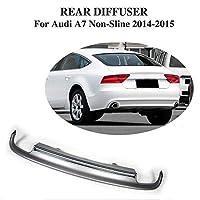 JCSPORTLINE for Audi A7 リアリップ ディフューザー リア アンダー スポイラー グランドエフェクター リア バンパー エアロパーツ/for アウディ A7 標準バンパー 2011 2012 2013 2014モデルに適合※S-Line対応不可※/PP製