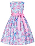 子供服 女の子 ノースリーブ 蝶結びリボン付き フリル ワンピース シンプル 花柄 ドレス 2# 100