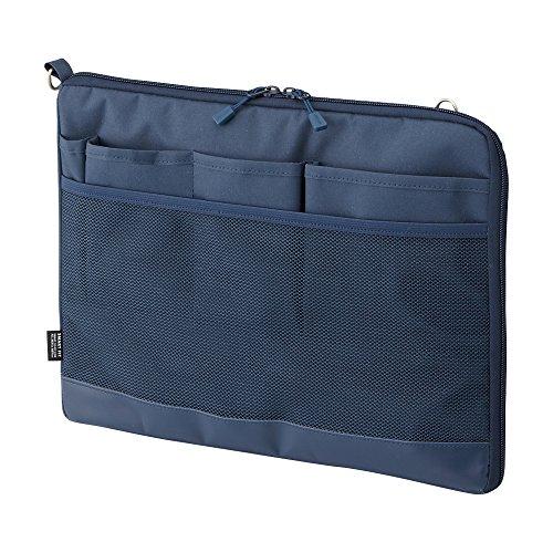 リヒトラブ バッグインバッグ スマートフィット アクタクト A4ヨコ ネイビー A7681-11