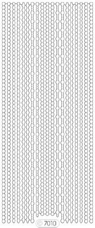 シールド句読点間ロココシール C7010 (透明シルバー)