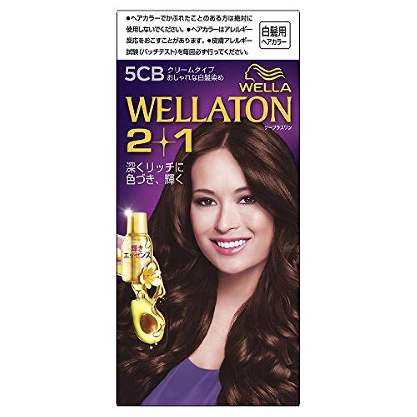 初期散らす首尾一貫したウエラトーン2+1 白髪染め クリームタイプ 5CB [医薬部外品] ×6個