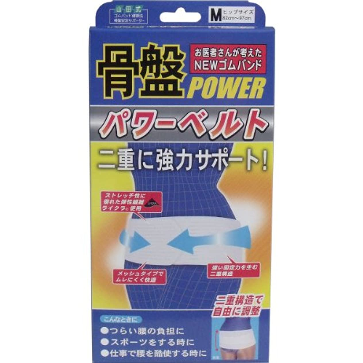 NEWゴムバンド 骨盤パワーベルト 強力二重構造 Mサイズ 【4個セット】