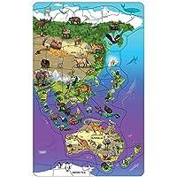 DOWLING MAGNETS 野生動物マップ パズル アジア オーストラリア