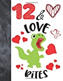12 &Love Bites: Green T-Rex Dinosaur Valentines Day Gift For Boys And Girls Age 12 Years Old - A Writing Journal To Doodle And Write In - Blank Lined Journaling Diary For Kids