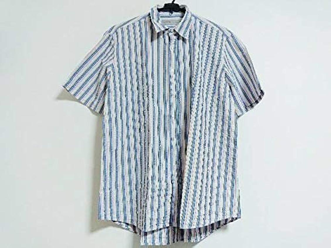 スクレーパー他のバンドでランドマーク(エトロ) ETRO シャツ 半袖シャツ メンズ 白×マルチ 【中古】