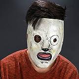 Jbstuff Slipknot Corey Taylor 2 Version スリップノット マスク コリー コリィ テイラー マスク Hood ヘルメット コスプレ 仮装 グッズ マスク 被り物 スパイダーマン 大人用 弾性 フッド ヘッドギア (B)