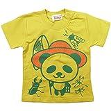 《初夏盛夏対応》 GARACH(ギャラッチ) 天竺昆虫採集PANDA半袖Tシャツ 90cm/Gn NO.AH-1621304
