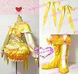 コスプレ衣装♪スイートプリキュア♪調辺 アコ(しらべ アコ)/ キュアミューズ靴付き コスチューム、コスプレ