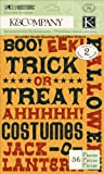 K & Company Ghostly Greetings Word Glitter Stickers