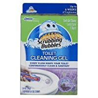 Scrubbing Bubbles (Pack of 2) Toilet Cleaning Gel 1 Dispenser 6 Gel Stamps Lavender Meadow 1.34 OZ [並行輸入品]