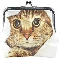 がま口 小銭入れ 財布 かわいい 猫柄 コインケース レザー製 丸形 軽量 人気 おしゃれ プレゼント ギフト 雑貨