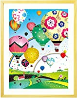 開店祝い 開業祝い バルーン 絵画アート 「どこまでも どこまでも」 【名前入れ可・Mサイズ】 お祝い プレゼント 周年祝い 事務所 移転祝い 新築祝い 工務店 贈り物 品物 人気
