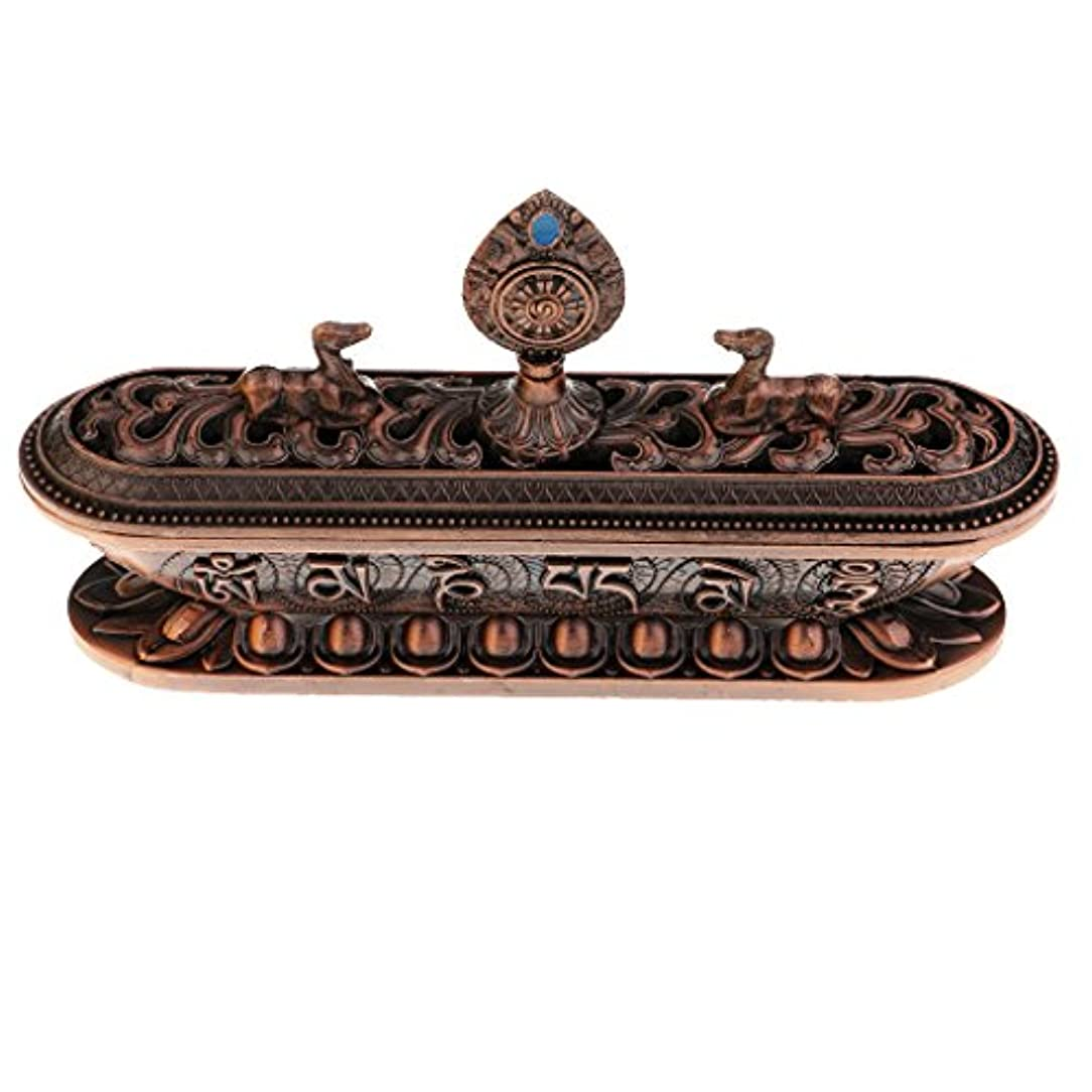 ずらすアドバンテージ居住者Fenteer 仏教香炉バーナー 合金 テーブル ホーム インテリア 仏教用品 ホルダー 香炉 バーナー 合金 6タイプ選べる - #3