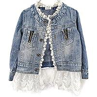 Verypoppa Little Girls Lace Denim Jacket Coat Outwear Tops