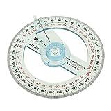 ノーブランド品 全円分度器 オフィス 学生 製図用 10cm