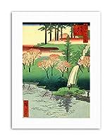 Japanese Woodblock Waterfall River New Painting Canvas Art Print
