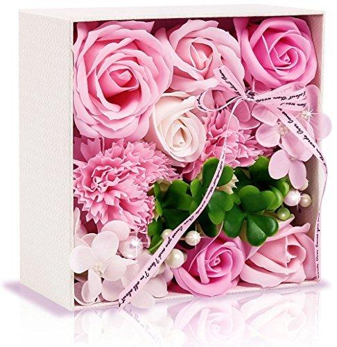 ソープフラワー 創意方形ギフトボックス 誕生日 母の日 記念...