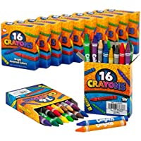 クレヨンセット – 各パックに色鉛筆16本詰め合わせ12本パック – 合計192クレヨン、学校やオフィス用品、アート、クラフト、DIYプロジェクト、絵画、カラーコレクション