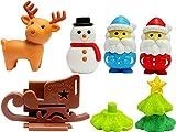ブリスターパック おもしろ消しゴム クリスマス