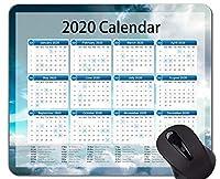 カレンダー2020年マウスパッドカスタマイズ、抽象的な緑のテーマのオフィスマウスパッド