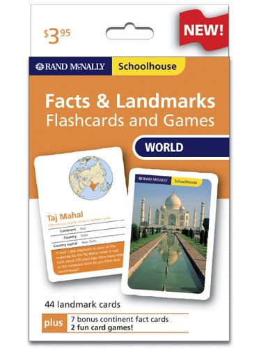 Download Rand Mcnally Schoolhouse World Facts & Landmarks Flashcards And Games 0528934686