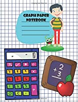 Graph Paper Notebook: Math Notebooks For School/For Kids/Standard Size: 7.4 x 9.7 inches/5 Squares Per Inch/