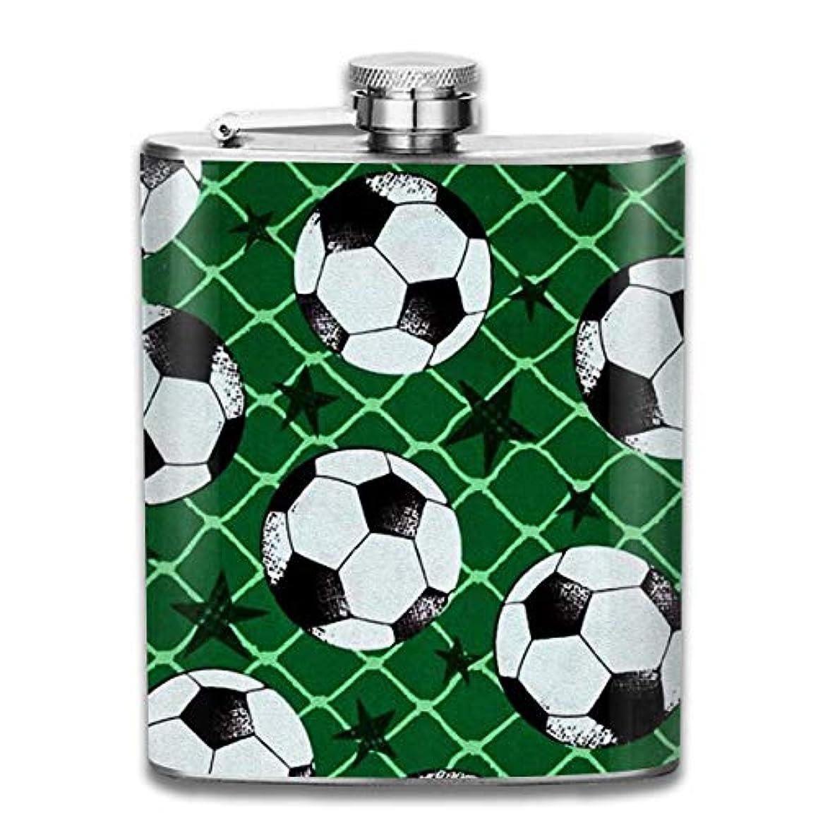 バイオレットコンチネンタル痛いサッカーフラスコ スキットル ヒップフラスコ 7オンス 206ml 高品質ステンレス製 ウイスキー アルコール 清酒 携帯 ボトル