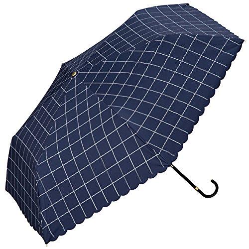 wpc-mini-801-567 50cm ネイビー (ワールドパーティー) W.P.C 日傘 折りたたみ傘 雨具 ウィンドウペンチェック wpc-mini-801-567